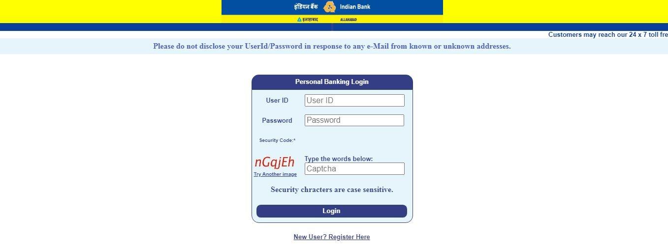 Allahabad net banking login