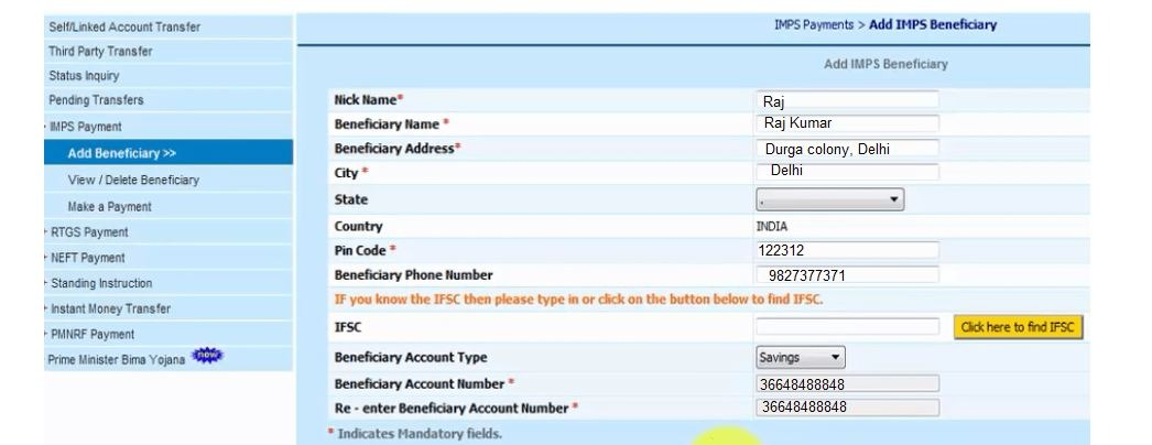 BOI beneficiary details