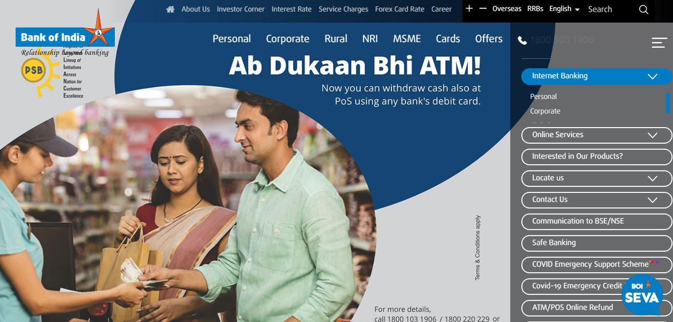 BOI internet banking