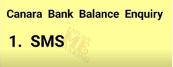 Canara Bank SMS bank 1