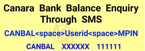 Canara Bank SMS bank 2