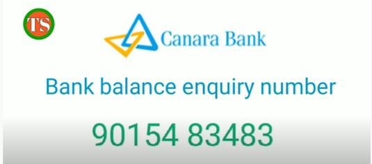 Canara Bank missed call number