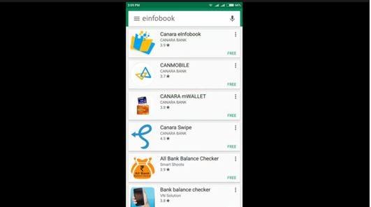 Canara Bank mobile application download