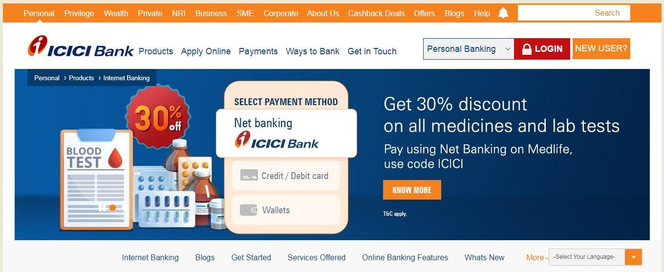 ICICI online