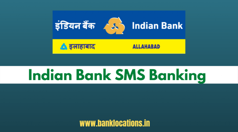Indian Bank SMS Banking Registration
