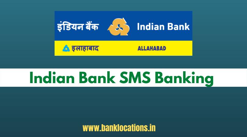 Indian Bank SMS Banking Registration