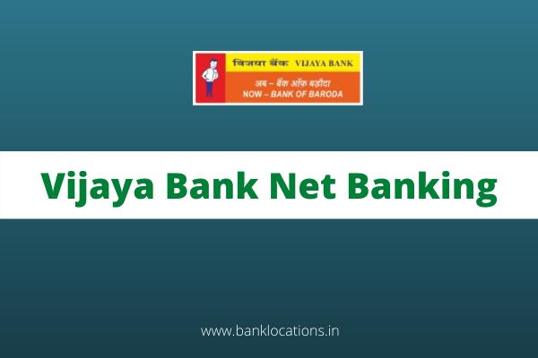 Vijaya Bank Net Banking