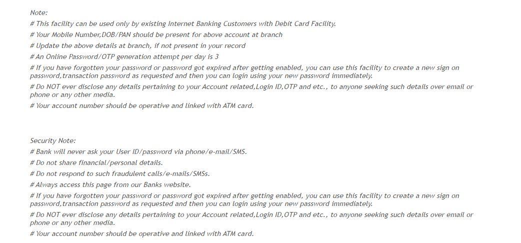 Vijaya password instructions
