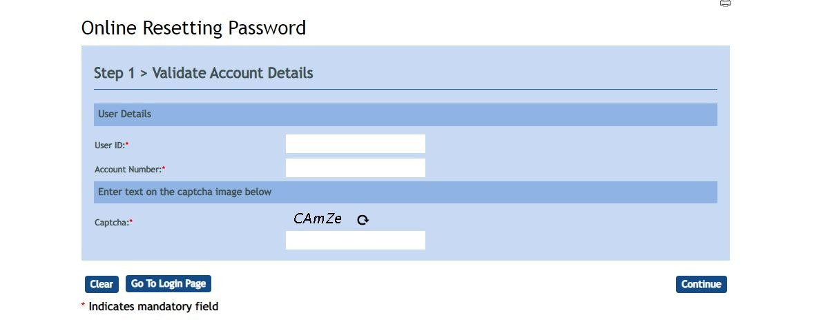Vijaya password reset