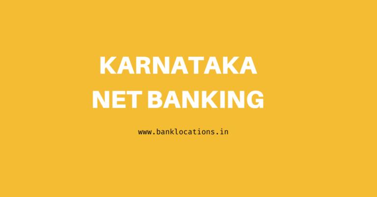 Karnataka Net Banking